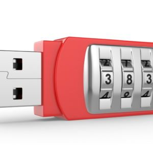 USB flash drive with combination lock