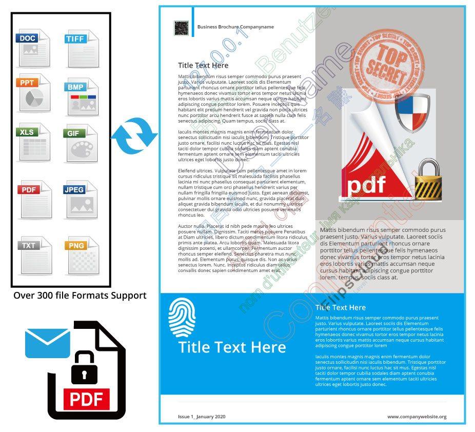 PDF email encryption