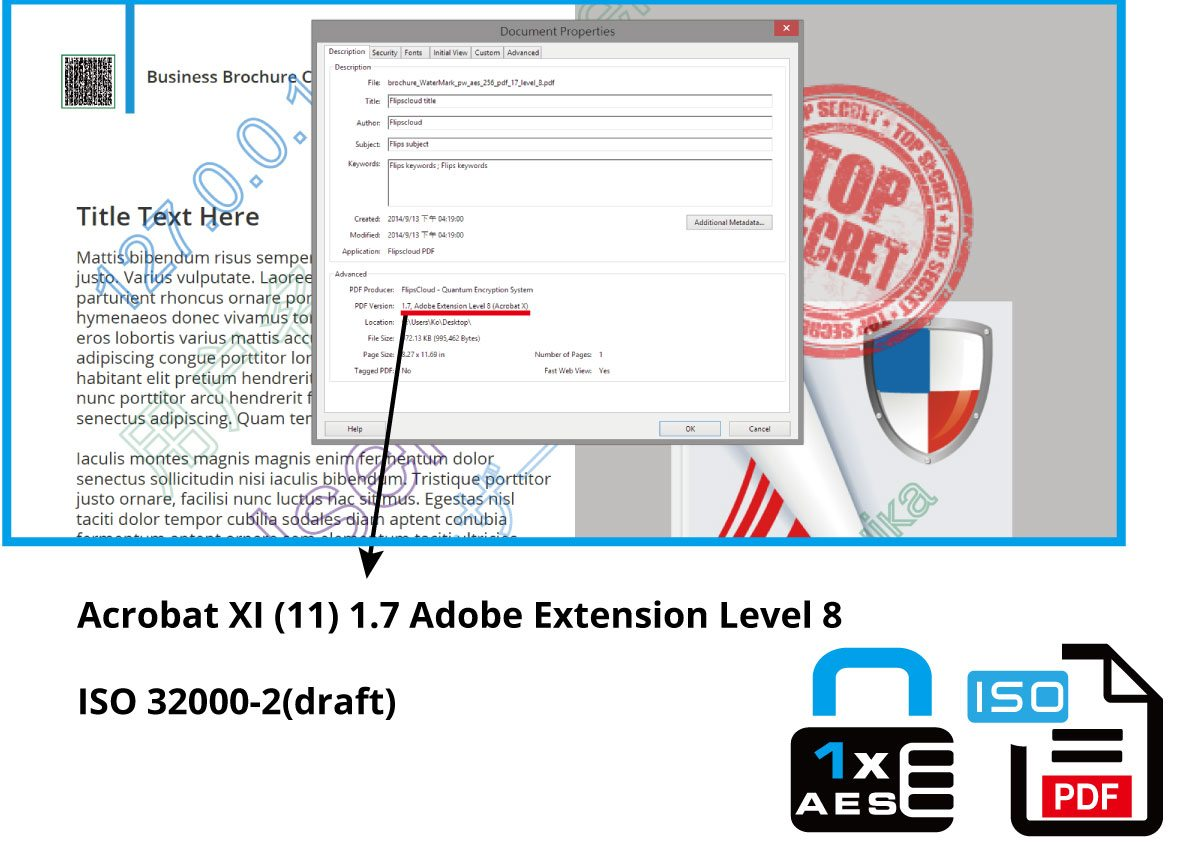 pdf version -acrobat x1(11)1. adobe extension level 8